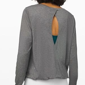 Lululemon Wild Twist Long Sleeve — Heathered Grey